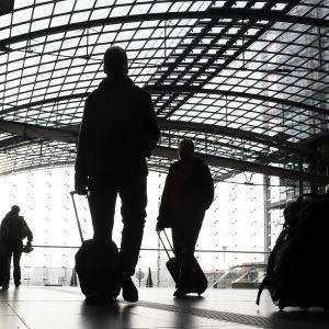 Tågstation i Tyskland.