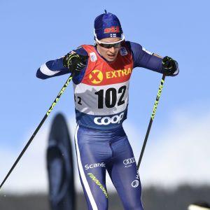 Matti Heikkinen hade ingen bra sprintdag igår.