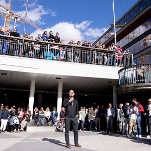Minnesstund för Avicii på Sergels torg i Stockholm 21.4.2018.