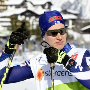 Matti Heikkinen i skid-VM i Seefeld.