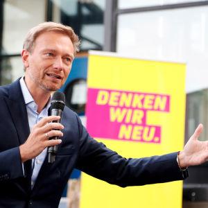 Christian Lindner, ordförande för det tyska liberala partiet Freie Demokratische Partei, FDP.