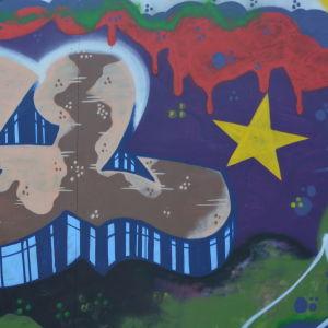 graffiti på urbcult vid konstfabriken i borgå