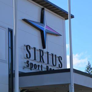 Den stjärnformade symbolen för ett upplevelsecenter i Pyttis.