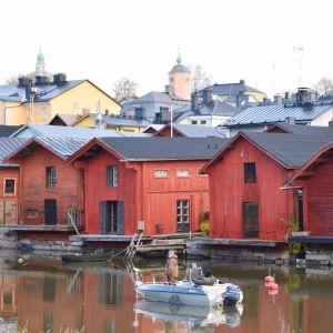 Pilkare vid strandbodarna i Borgå