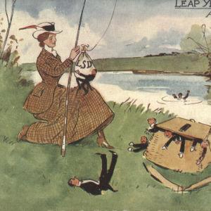 Skottdagskort från början av 1900-talet.