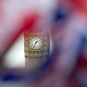 Union Jack och Big Ben.