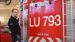 Kårchef Niclas Kauppala vid Ingå FBK