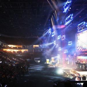 E-sportmatch på en stor spelmässa i Ryssland.