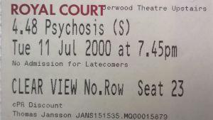 Teaterbiljett till 4.48 Psychosis.