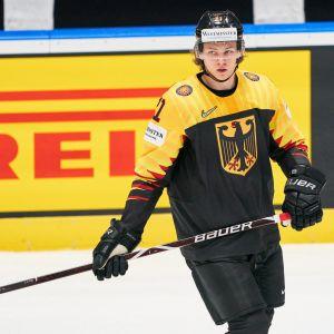 Tyska hockeyspelaren Moritz Seider.