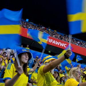 Svenska fotbollsfans.