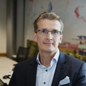 Toimitusjohtaja Jouko Pölönen Ilmarisen tiedotustilaisuudessa 1.8.2019.