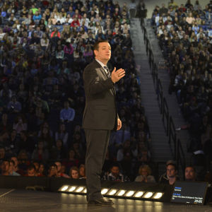 Ted Cruz lanserade sin presidentvalskampanj i Virginia.