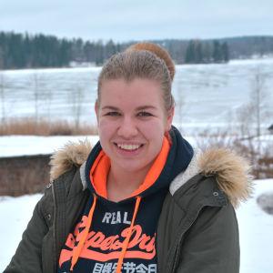 Linnea Lindfors, kommunalvalskandidat för SFP i Lappträsk 2017