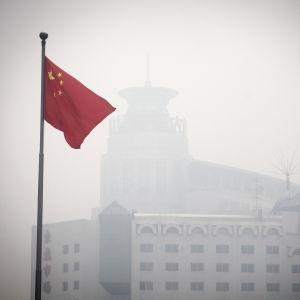 Tung smog över Peking