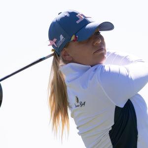 Matilda Castren New Jerseyn golfkisoissa 2021.