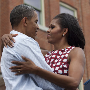 Barack Obama och Michelle Obama.