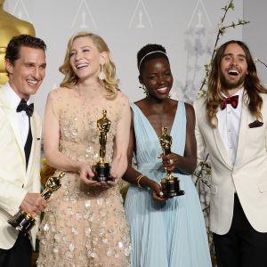 Mathhew McConaughey, Cate Blanchett, Lupita Nyong'o och Jared Leto.