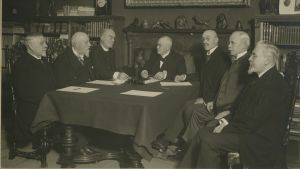 Åbo Akademis styrelse i början på 1900-talet.