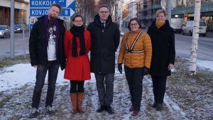 Emil Wingren, Laura Holm, Mats Brand, Maria Palm och Tina Nylund.