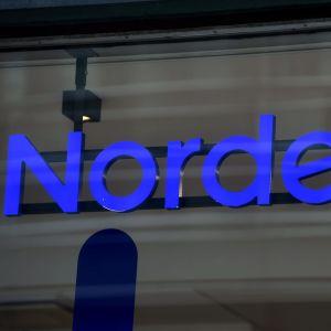 Nordeas logga i blått.