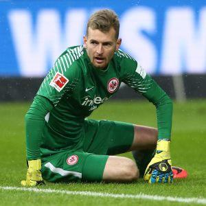 Lukas Hradecky är inne på sin tredje säsong i Eintracht Frankfurt.