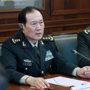 Den kinesiska politikern och militären Wei Fenghe.