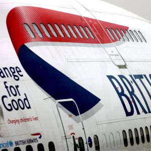 Ett British Airways-plan i Heathrow