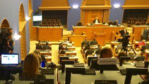 Bild från det estniska parlamentets plenisal