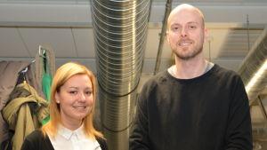 Tina Kärkinen och Niklas Hägen från Swaying Wires