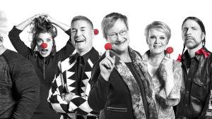 Näsdags show med finländska kändisar bland andra Tarja Halonen.