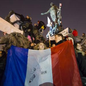 demonstration mot terror i paris (charline hebdo)