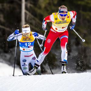 I VM i Seefeld var Maiken Caspersen Falla etta före Stina Nilsson.