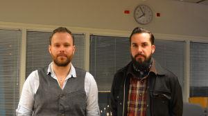 Marcus Granfors och Tuukka Aitoaho från Heartbeat band
