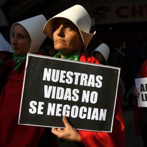 Demonstration för abort i Argentina, juli 2018.