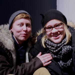 Gallupiin vastaajat Johanna ja Venni.