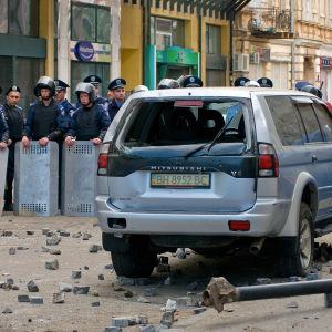 Kravallpolis i Odessa 2.5.2014.