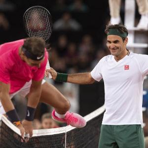 Rafael Nadal och Roger Federer.