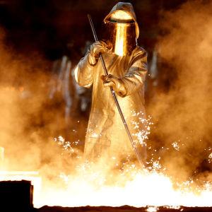 Bild från Thyssenkrupps fabrik i Duisburg.