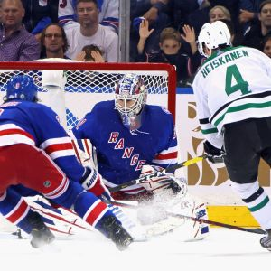 Dallas Miro Heiskanen avgör matchen mot New York Rangers.
