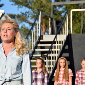 Premiären på raseborgs sommarteater 29 juni. Cassandra Lindholm.