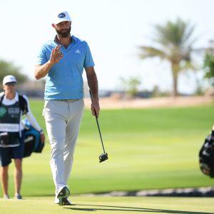 Dustin Johnson Euroopan-kiertueen Saudi-Arabian osakilpailussa 2021.