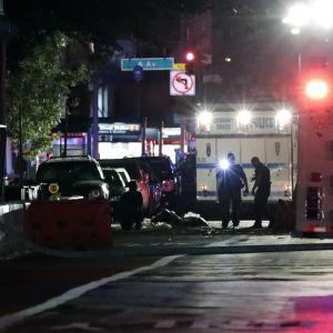 En explosion har inträffat på Manhattan