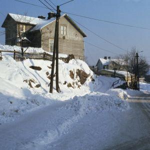Puutaloja Länsi-Pasilassa, 1970-luku.