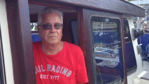 Båtförare Stig Lindblad