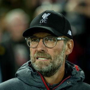 Liverpooltränaren Jürgen Klopp under matchen mot Salzburg.
