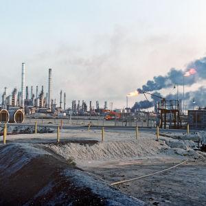 Oljeanläggning i Saudiarabien.