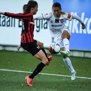 Eveliina Parikka i elden mot FC Rosengård 2015.