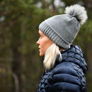 Laura Salminen ute i naturen, december 2020