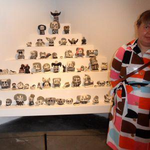 """Jenni Tuominens verk på utställningen """"Tillsammans"""" på Kiasma sommaren 2014."""